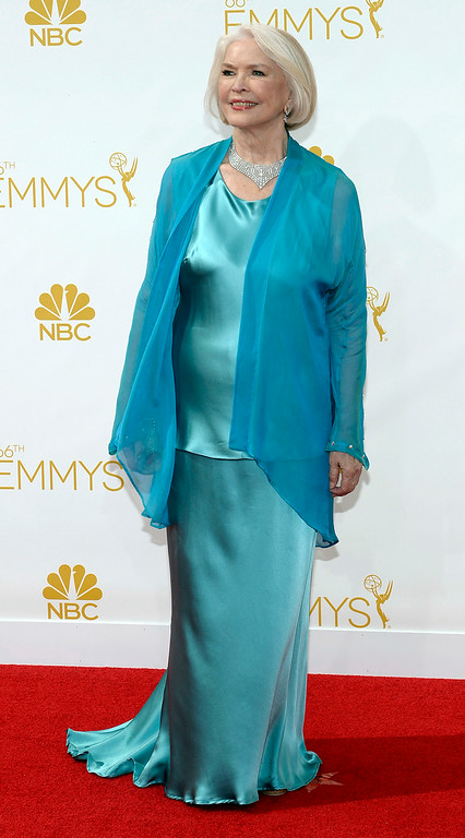 . Ellen Burstyn on the red carpet at the 66th Primetime Emmy Awards show at the Nokia Theatre in Los Angeles, California on Monday August 25, 2014. (Photo by John McCoy / Los Angeles Daily News)