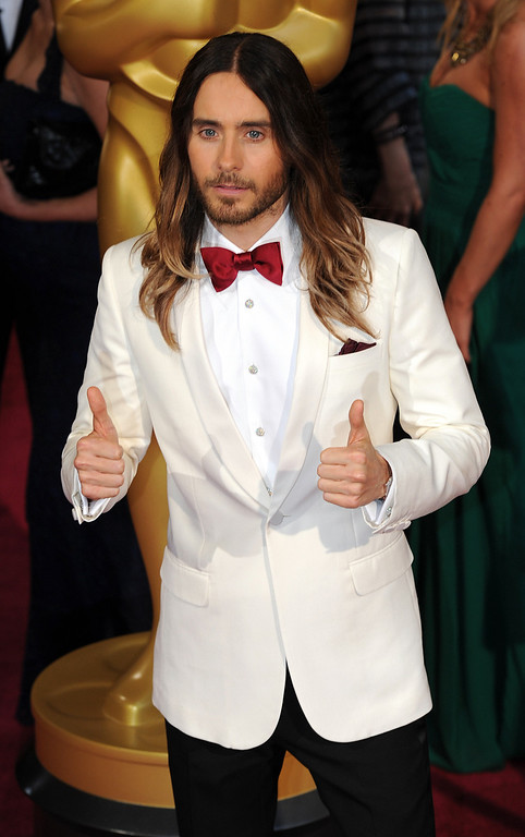 . Jared Leto attends the 86th Academy Awards at the Dolby Theatre in Hollywood, California on Sunday March 2, 2014 (Photo by John McCoy / Los Angeles Daily News)