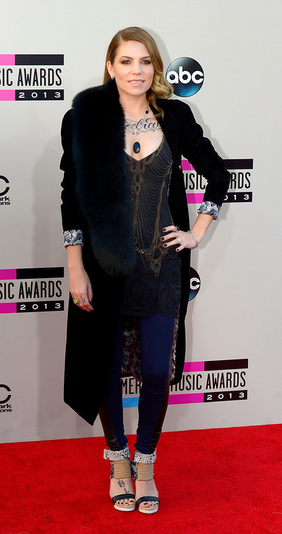 . Skylar Grey arrives to the American Music Awards  at the Nokia Theatre in Los Angeles, California on Sunday November 24, 2013 (Photo by Andy Holzman / Los Angeles Daily News)