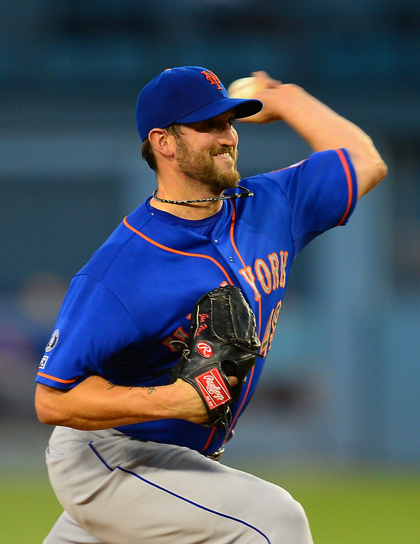. Mets starter Jonathon Niese goes against the Dodgers, Friday, August 22, 2014, at Dodger Stadium. (Photo by Michael Owen Baker/Los Angeles Daily News)