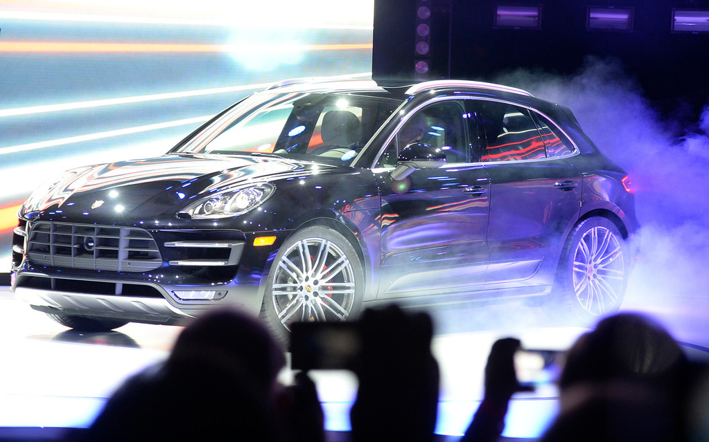 . Nov 20,2013 Los Angeles CA. USA. The new Porsche Macan on display during the 2013 Los Angeles Auto Show. Photo by Gene Blevins/LA Daily News