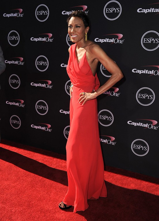 . Television host Robin Roberts arrives at the ESPY Awards on Wednesday, July 17, 2013, at Nokia Theater in Los Angeles. (Photo by Jordan Strauss/Invision/AP)
