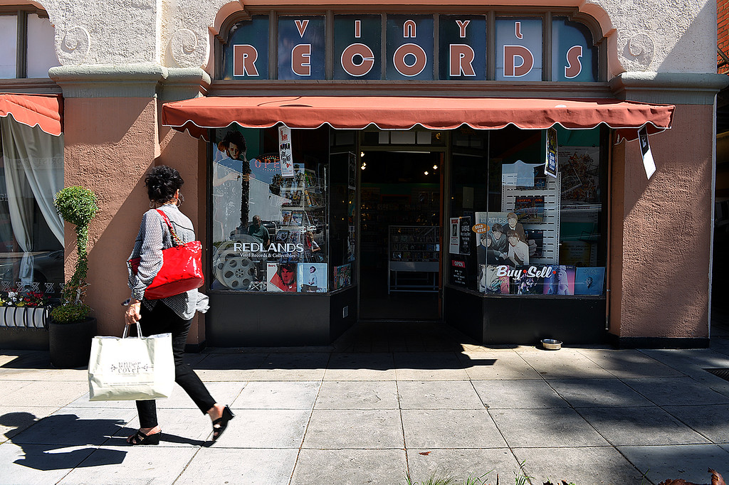 . Redlands Vinyl Records and Collectibles recently opened its doors in Redlands to offer a second place in town to collect records and other collectibles.  (Photo by Rick Sforza/Redlands Daily Facts)