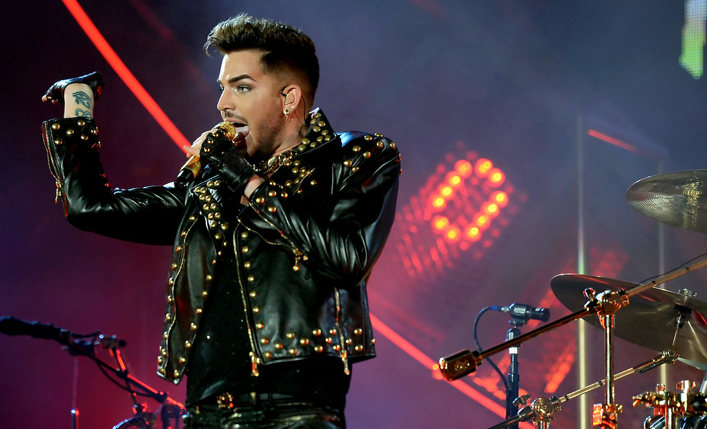 . Adam Lambert performs with Queen at The Forum in Inglewood, Calif., on Thursday, July 3, 2014. 