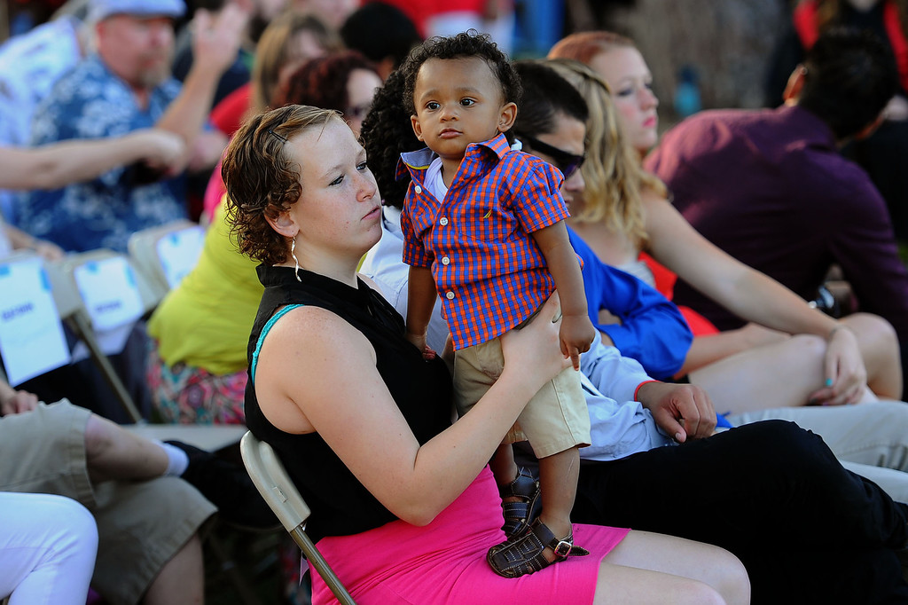. Friends and family look on as students participate in the 2014 Commencement Ceremony at Pierce College June 10, 2014 in Woodland Hills, CA.(Andy Holzman/Los Angeles Daily News)