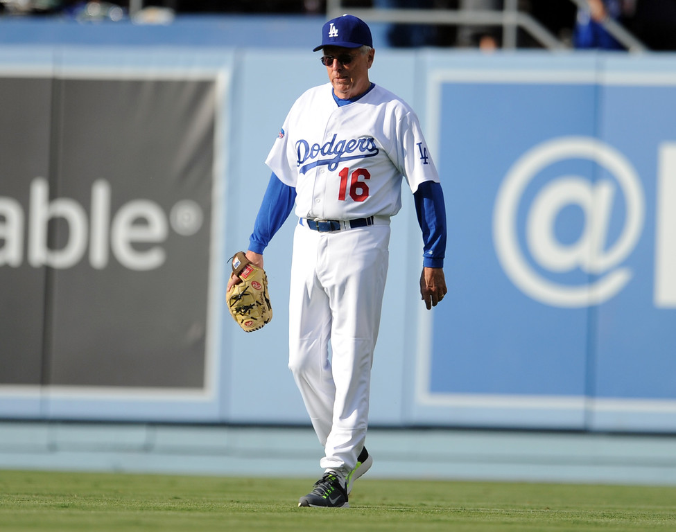 . Former Los Angeles Dodgers Rick Monday during the Old-Timers game prior to a baseball game between the Atlanta Braves and the Los Angeles Dodgers on Saturday, June 8, 2013 in Los Angeles.   (Keith Birmingham/Pasadena Star-News)