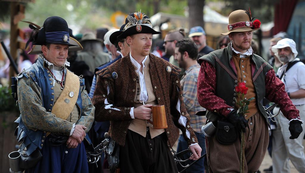 . Hundreds enjoy opening day of the Renaissance Pleasure Faire at Santa Fe Dam Recreation Area in Irwindale, Calif., on Saturday, April 5, 2014.  (Keith Birmingham Pasadena Star-News)
