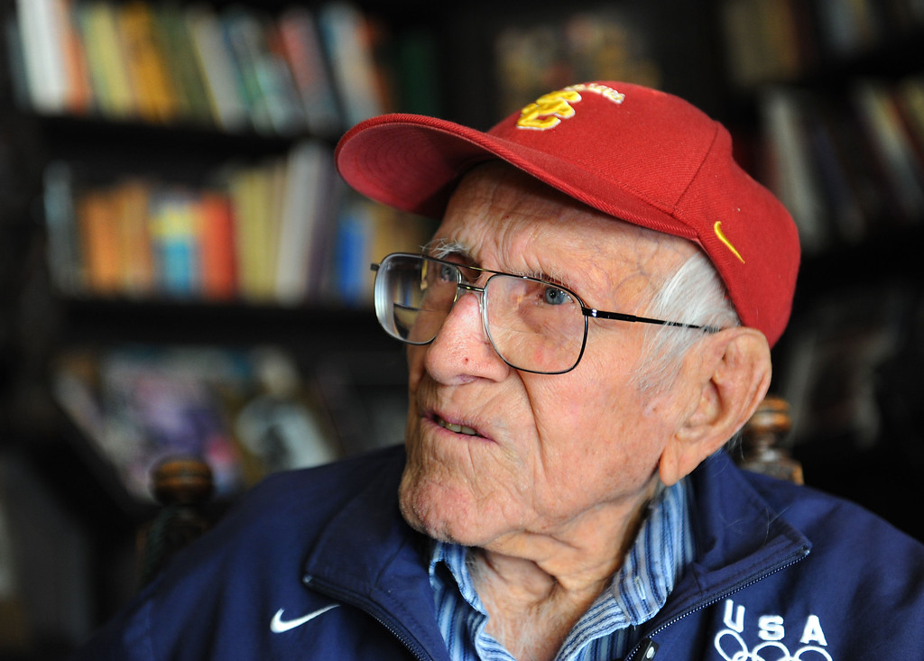 . Louis Zamperini, 94, at his Hollywod home. Photo by Brad Graverson 11-7-10
