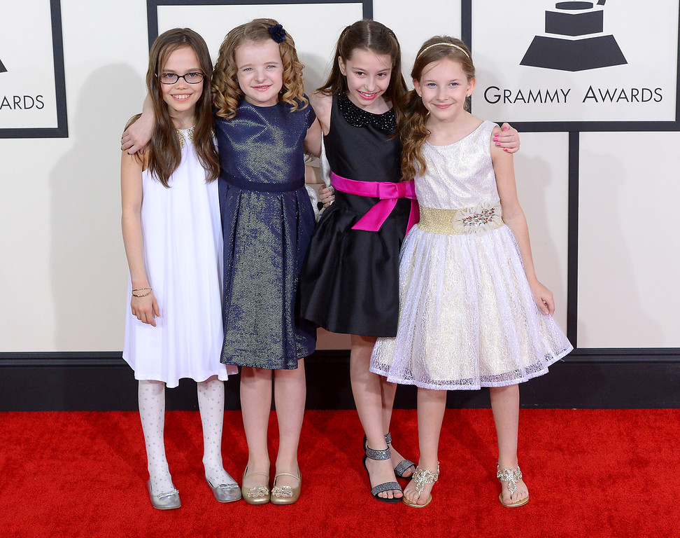 . The cast of Matilda the Musical arrives at the 56th Annual GRAMMY Awards at Staples Center in Los Angeles, California on Sunday January 26, 2014 (Photo by David Crane / Los Angeles Daily News)