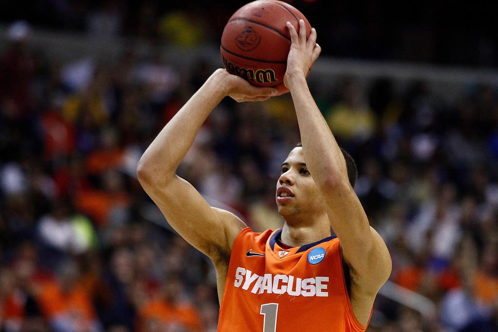 . <b>11. Philadelphia - Michael Carter-Williams</b> <br />6-6, 184 Point guard, Syracuse (AP Photo/Mark Tenally)