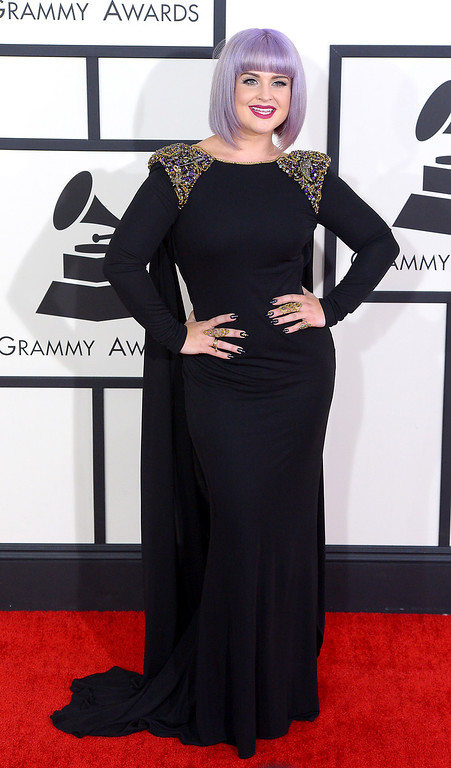 . Kelly Osbourne arrives at the 56th Annual GRAMMY Awards at Staples Center in Los Angeles, California on Sunday January 26, 2014 (Photo by David Crane / Los Angeles Daily News)