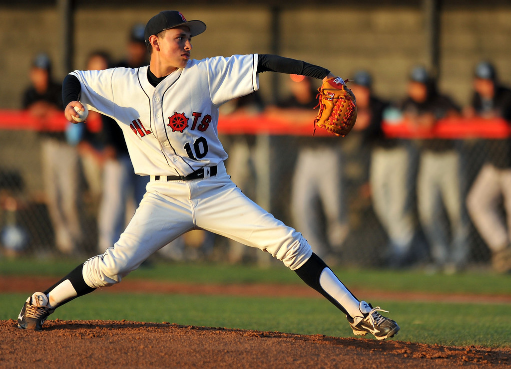 . WILMINGTON - 05/02/2013  (Photo: Scott Varley, Los Angeles Newspaper Group)  Carson vs Banning baseball at Banning High. Banning\'s pitcher Justin Yanez picks up the win.