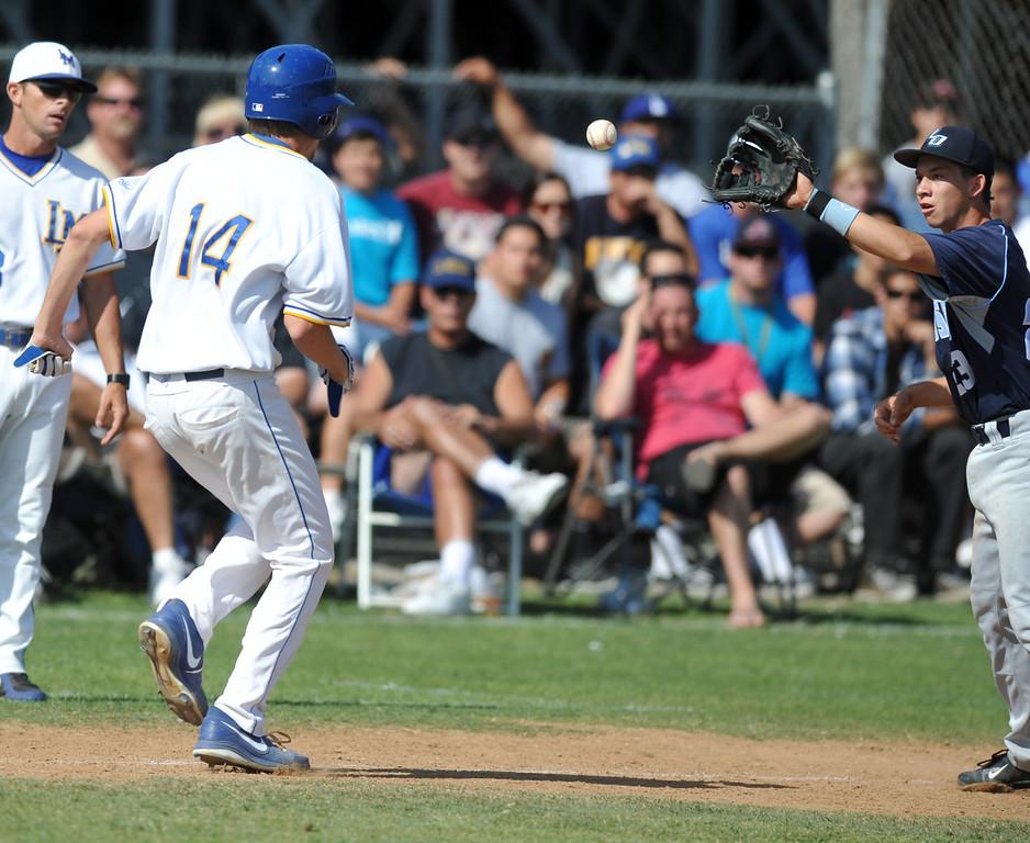 . La Mirada plays Los Osos in their CIF quarterfinal baseball game at La Mirada High School on Friday May 24, 2013. Los Osos beat La Mirada 8-5. (SGVN/Staff Photo by Keith Durflinger)