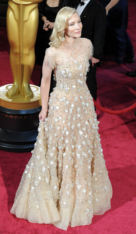 . Cate Blanchett attends the 86th Academy Awards at the Dolby Theatre in Hollywood, California on Sunday March 2, 2014 (Photo by John McCoy / Los Angeles Daily News)