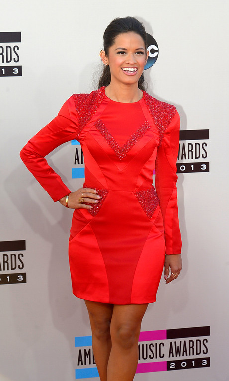 . Rocsi Diaz arrives to the American Music Awards  at the Nokia Theatre in Los Angeles, California on Sunday November 24, 2013 (Photo by Andy Holzman / Los Angeles Daily News)