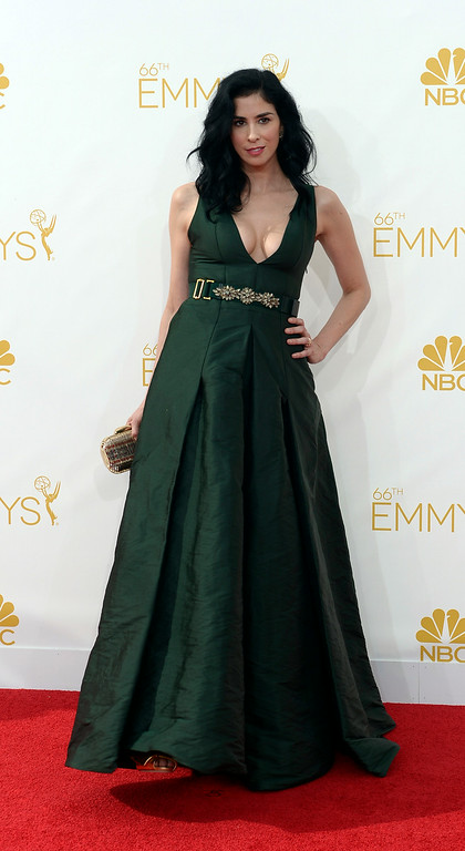 . Sarah Silverman on the red carpet at the 66th Primetime Emmy Awards show at the Nokia Theatre in Los Angeles, California on Monday August 25, 2014. (Photo by John McCoy / Los Angeles Daily News)