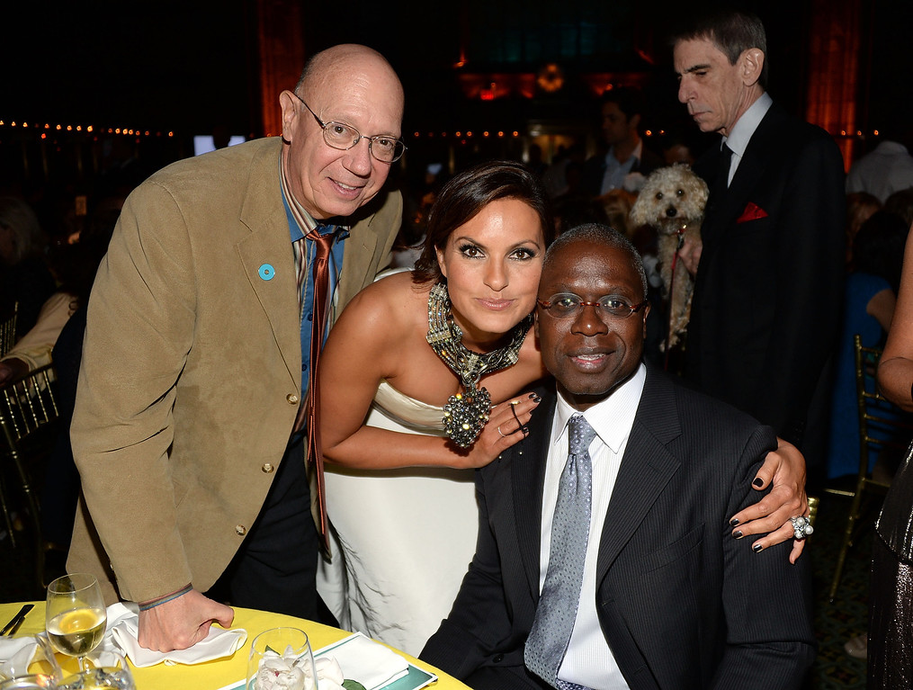 . NEW YORK, NY - MAY 09:  (L-R) Dan Florek, Mariska Hargitay and Andre Braugher attend the 2013 Joyful Heart Foundation Gala at Cipriani 42nd Street on May 9, 2013 in New York City.  (Photo by Andrew H. Walker/Getty Images)