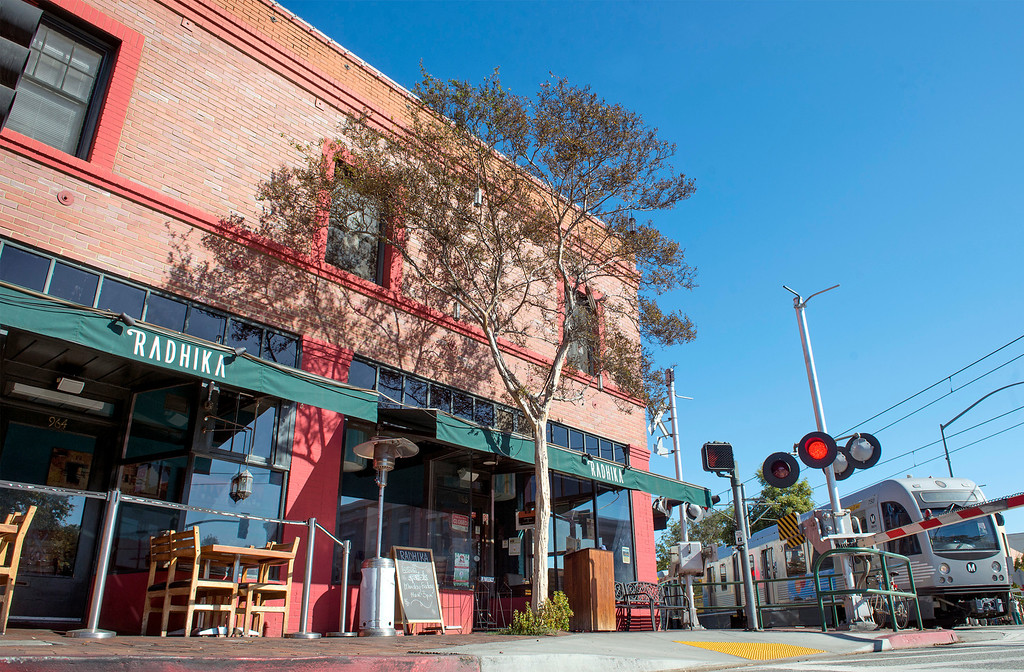 . Three buildings in South Pasadena, Calif., pictured October 30, 2013, were used for the 1978 film Halloween with Jamie Lee Curtis and Donald Pleasence.  The hardware store, where Michael Meyers got his famous mask and his knife, was located at 966 Mission Street is now the Radhika Indian restaurant.  (Staff photo by Leo Jarzomb/Pasadena Star-News)