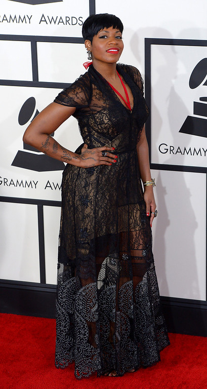 . Fantasia arrives at the 56th Annual GRAMMY Awards at Staples Center in Los Angeles, California on Sunday January 26, 2014 (Photo by David Crane / Los Angeles Daily News)