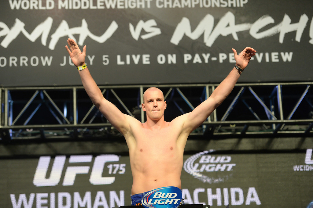 . Stefan Struve during weigh ins for UFC 175 at the Mandalay Bay Events Center July 4, 2014. (Photo by Hans Gutknecht/Los Angeles Daily News)