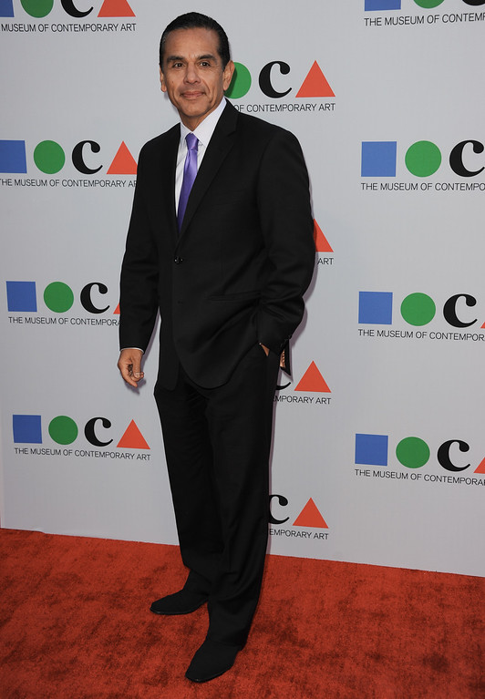 . Antonio Villaraigosa arrives at the 2013 MOCA Gala celebrating the opening of the Urs Fischer exhibition at MOCA on Saturday, April 20, 2013 in Los Angeles. (Photo by Richard Shotwell/Invision/AP)