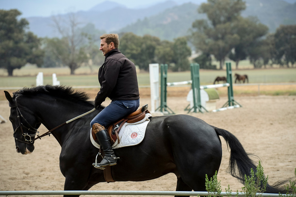 . Equestrian centers in Hidden Valley were back in service Sunday.  Cool damp weather has helped crews begin to get the upper hand on the fire which has burned more than 10,000 acres.  Photo by David Crane/Los Angeles Daily News.