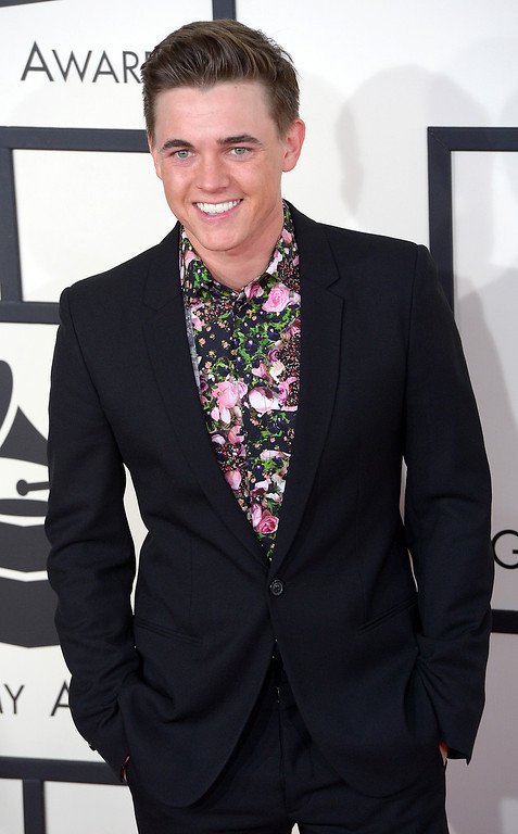 . Jesse McCartney arrives at the 56th Annual GRAMMY Awards at Staples Center in Los Angeles, California on Sunday January 26, 2014 (Photo by David Crane / Los Angeles Daily News)