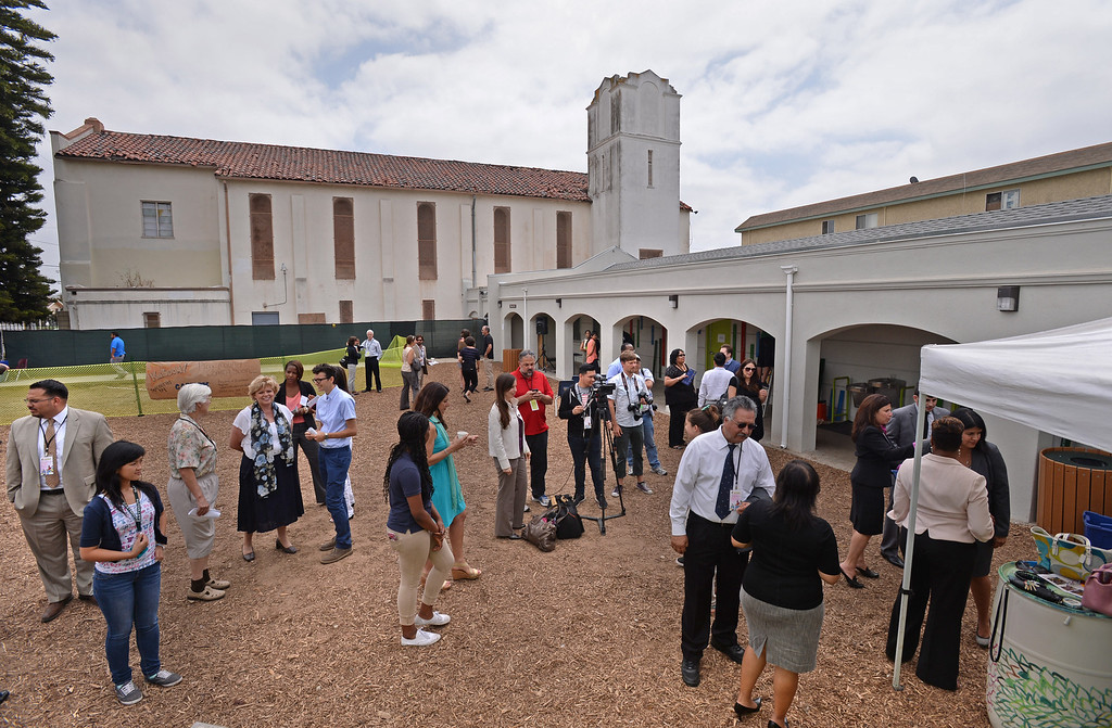 . New Environmental Charter Middle School in Gardena is located on the property of a former church. It serves about 360 students.  Photos by Brad Graverson 5-22-13