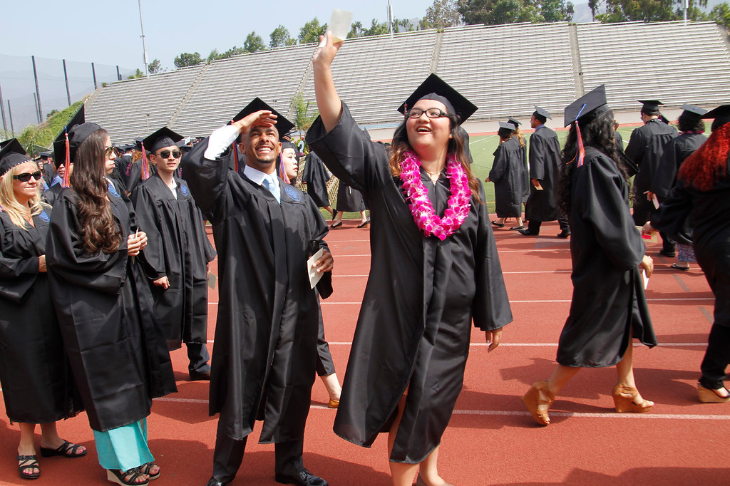 . Graduates during Citrus College 97th Commencement Ceremony, at Citrus College Stadium, in Glendora, Saturday, June 15, 2013. (Correspondent Photo by James Carbone/SVCITY)