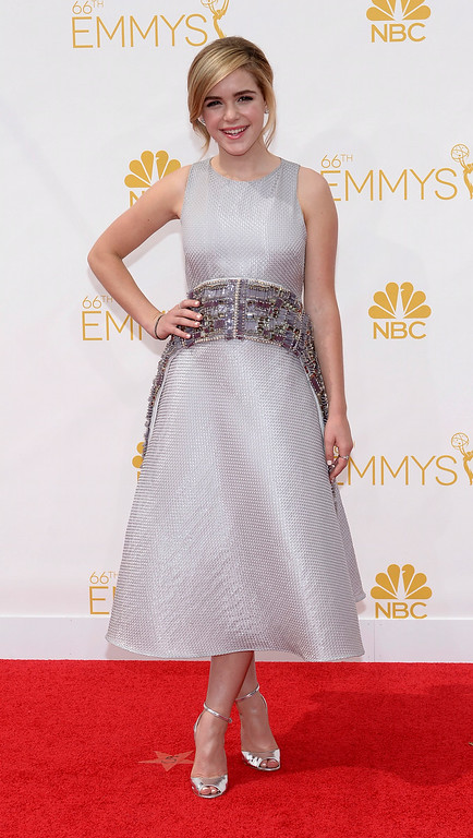 . Kiernan Shipka on the red carpet at the 66th Primetime Emmy Awards show at the Nokia Theatre in Los Angeles, California on Monday August 25, 2014. (Photo by John McCoy / Los Angeles Daily News)