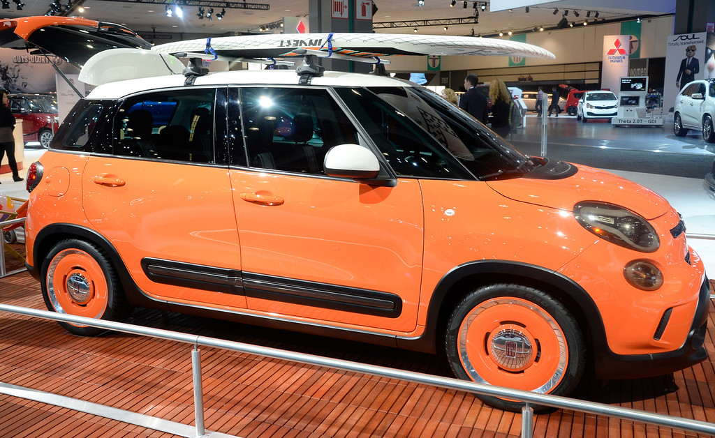 . Nov 22,2013 Los Angeles CA. The new 2014 Fiat Mopar Custom 500L Thalassa,  on displays during the 2nd media day at the Los Angeles Auto Show.The show opens today Friday and runs through Dec 1st. Photo by Gene Blevins/LA Daily News