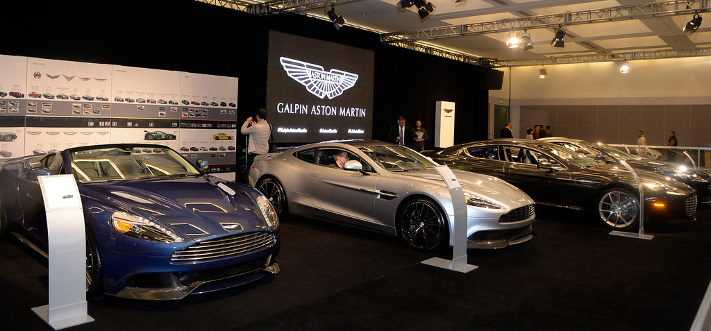 . Nov 22,2013 Los Angeles CA.  The Galpin Ford Aston Martin Vanquish on displays during the 2nd media day at the Los Angeles Auto Show. Photo by Gene Blevins/LA Daily News
