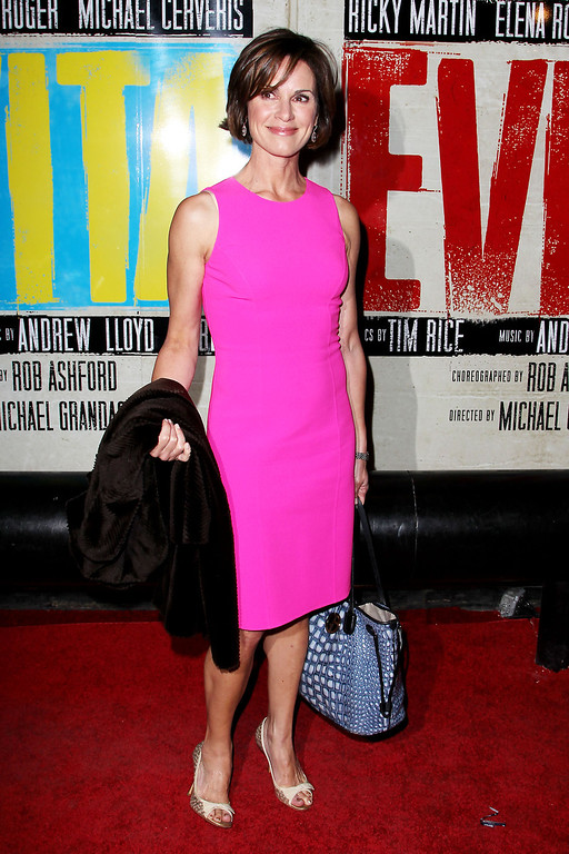 ". Elizabeth Vargas attends the Broadway opening of ""Evita,\"" starring Ricky Martin, at the Marriott Marquis Hotel on Thursday, April 5, 2012, in New York. (AP Photo/Starpix, Amanda Schwab)"