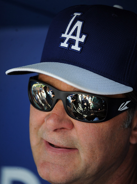 . Los Angeles Dodgers manager Don Mattingly talks to the media prior to a Major league baseball game against the San Francisco Giants on Saturday, May10, 2013 in Los Angeles.   (Keith Birmingham/Pasadena Star-News)
