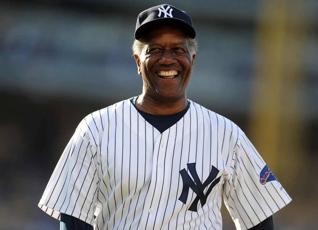 . Former New York Yankees Paul Blair during the Old-Timers game prior to a baseball game between the Atlanta Braves and the Los Angeles Dodgers on Saturday, June 8, 2013 in Los Angeles.   (Keith Birmingham/Pasadena Star-News)