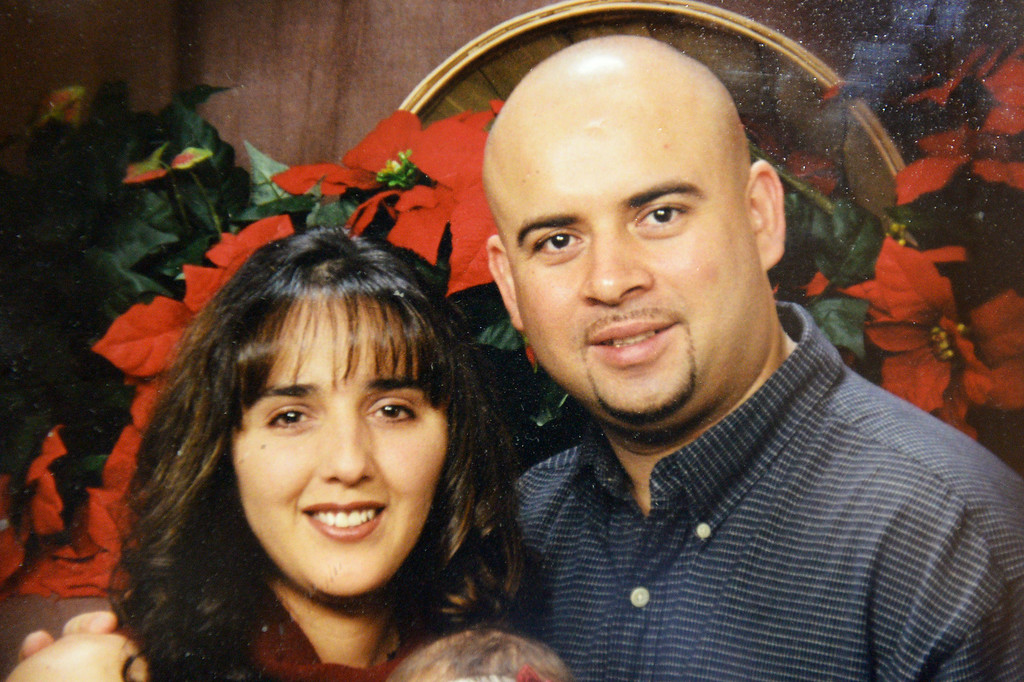 . Maria Estrada and her husband Uriel Estrada, who were among the four family members who perished in a fire in their Sylmar residence Monday, January 13, 2014. (Photo by Michael Owen Baker/L.A. Daily News)
