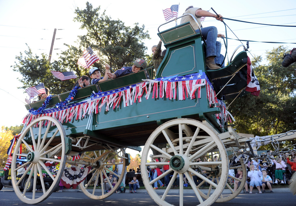 . The City of Redlands and American Legion Posts 106 & 650 hosted a Veterans Day Parade along with a ceremony honoring all who served with a special Tribute to Korean War Veterans, at Jennie Davis Park in Redlands, CA., Monday, Nov. 11, 2013. (John Valenzuela/Staff Photographer)