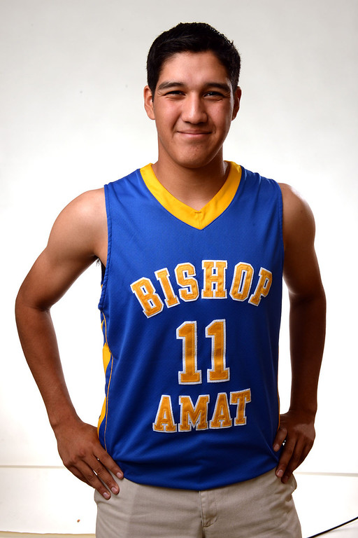 . Bishop Amat Joshua Andarza, All-Area basketball Players at the San Gabriel Valley Tribune in West Covina, Calif., on Tuesday, April 8, 2014.  (Keith Birmingham Pasadena Star-News)