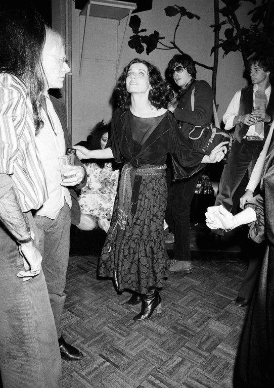. Margaret Trudeau, estranged wife of Canadian Prime Minister Pierre Trudeau, dances at New York\'s Studio 54 discotheque at night on Monday, Jan. 17, 1978. (AP Photo/Richard Drew)