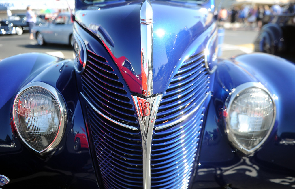 . A 1930\'s Ford during the 4th annual La Habra Highlanders car show at La Habra High School in La Habra Calif. on Saturday, Sept. 7, 2013.   (Photo by Keith Birmingham/Pasadena Star-News)