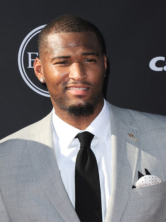. NBA player DeMarcus Cousins arrives at the ESPY Awards on Wednesday, July 17, 2013, at Nokia Theater in Los Angeles. (Photo by Jordan Strauss/Invision/AP)