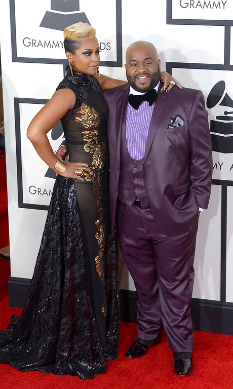 . Lashawn and guest arrive at the 56th Annual GRAMMY Awards at Staples Center in Los Angeles, California on Sunday January 26, 2014 (Photo by David Crane / Los Angeles Daily News)