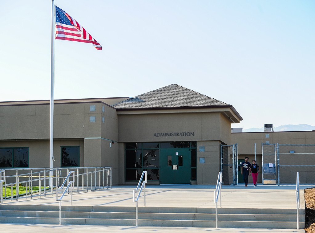. A view of the recently opened Dr. Mildred Dalton Henry Elementary School on Tuesday, Aug. 13, 2013. (Rachel Luna / Staff Photographer)