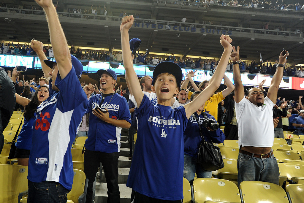 . Fans at Dodger Stadium have been treated to a lot of excitement. The Dodgers defeated the New York Mets 5-4 in 12 innings Wednesday night at Dodger Stadium in Los Angeles, CA. 8/13/2013(John McCoy/LA Daily News)