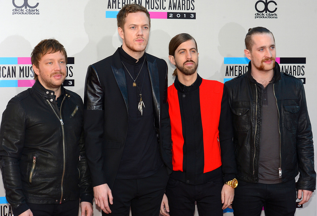 . Imagine Dragons arrives to the American Music Awards  at the Nokia Theatre in Los Angeles, California on Sunday November 24, 2013 (Photo by Andy Holzman / Los Angeles Daily News)