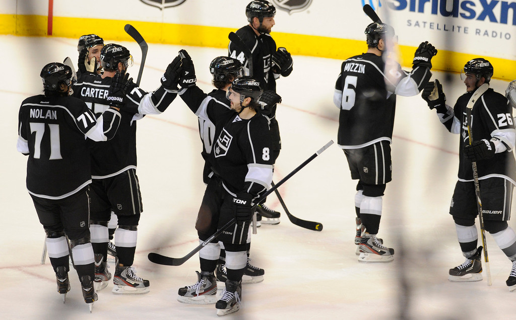 . The Kings defeated the San Jose Sharks 2-0 in the first game of the Second Round of the Western Conference Playoffs. Los Angeles CA 5/14/2013(John McCoy/LA Daily News)