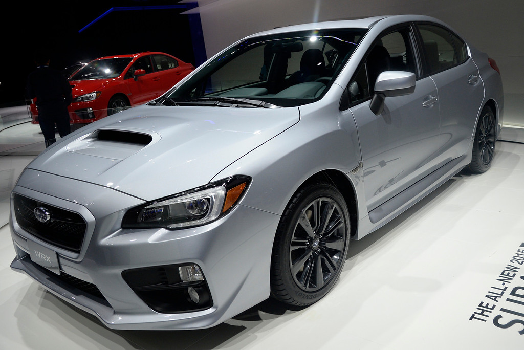 . Nov 22,2013 Los Angeles CA. The 2014 Subaru WRX on displays during the 2nd media day at the Los Angeles Auto Show. Photo by Gene Blevins/LA Daily News