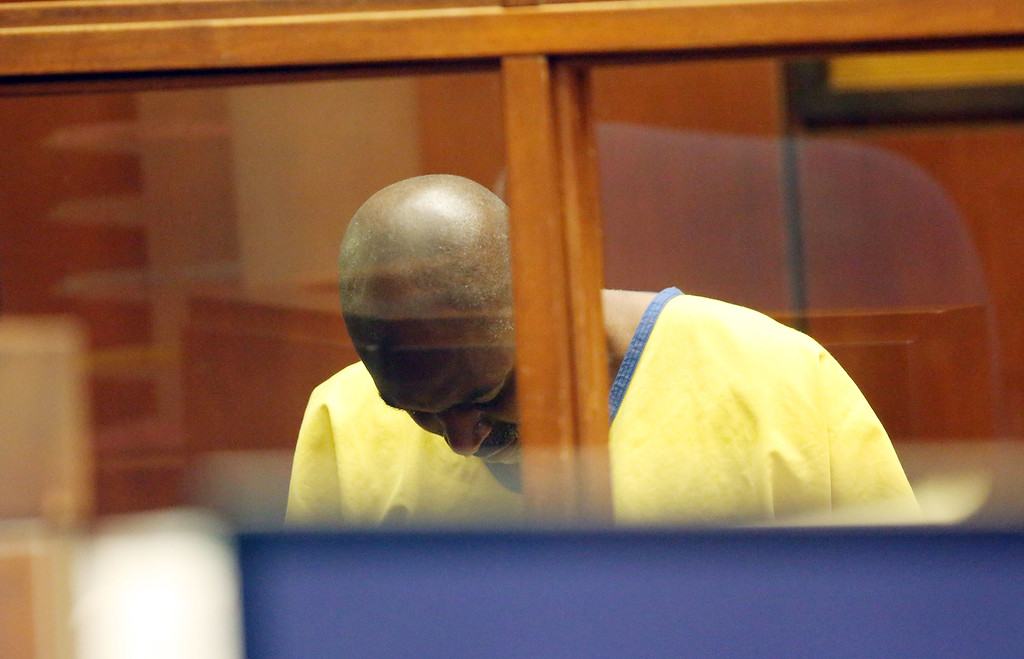 . Actor Michael Jace appears in court for his arraignment on murder charges June 18, 2014 in Los Angeles, California.  Jace is charged with the May 19 shooting death of his wife April Jace.  (Photo by Nick Ut-Pool via Getty Images)