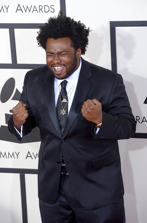 . James Fauntleroy arrives at the 56th Annual GRAMMY Awards at Staples Center in Los Angeles, California on Sunday January 26, 2014 (Photo by David Crane / Los Angeles Daily News)