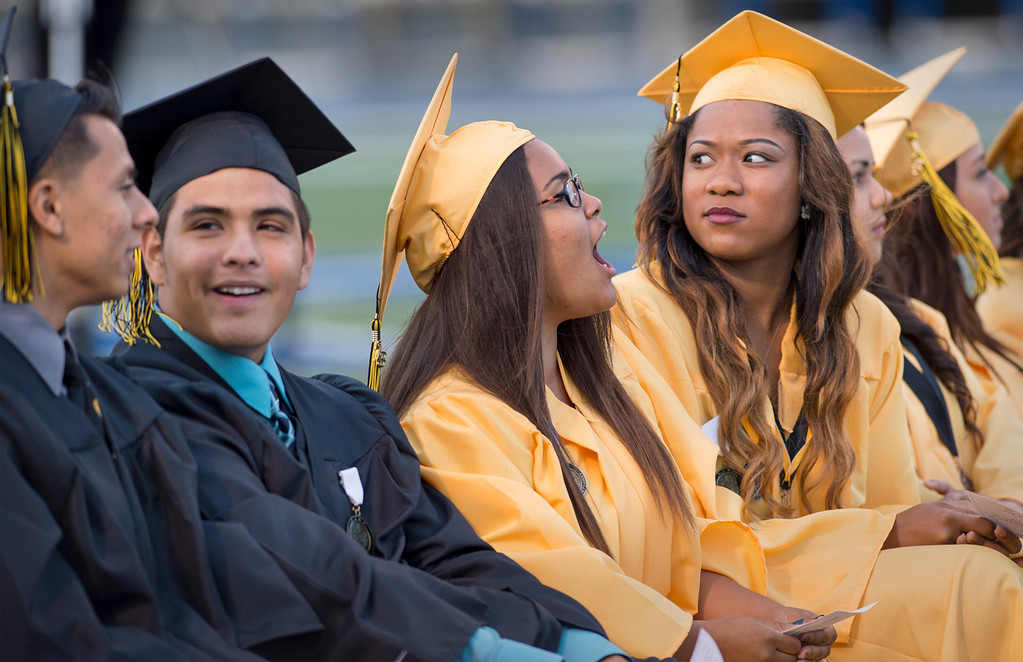 . Santa Fe High commencement exercises at Cerritos College June 12, 2013.   (SGVN staff photo by Leo Jarzomb)